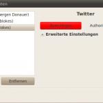 Twitter in Gwibber berechtigen