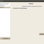 Twitter in Gwibber berechtigt