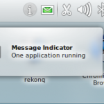 Kubuntu 10.10 Maverick Meerkat Message Indicator