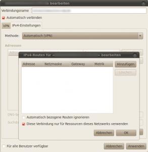 NetworkManager OpenVPN-Plugin und die Default Route
