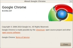 Google Chrome 8.0.552.237