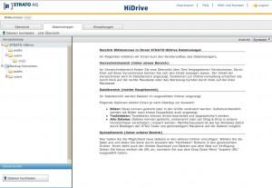 Strato HiDrive Dateimanager