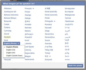 Facebook Piratensprache