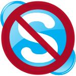 Skype Logo verboten 150x150