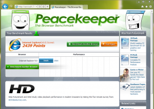 Peacekeeper Internet Explorer 9