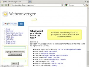 Webconverger 8.0 Firefox 4