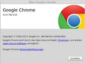 Chrome 13.0.782.215