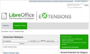 LibreOffice Extension Center