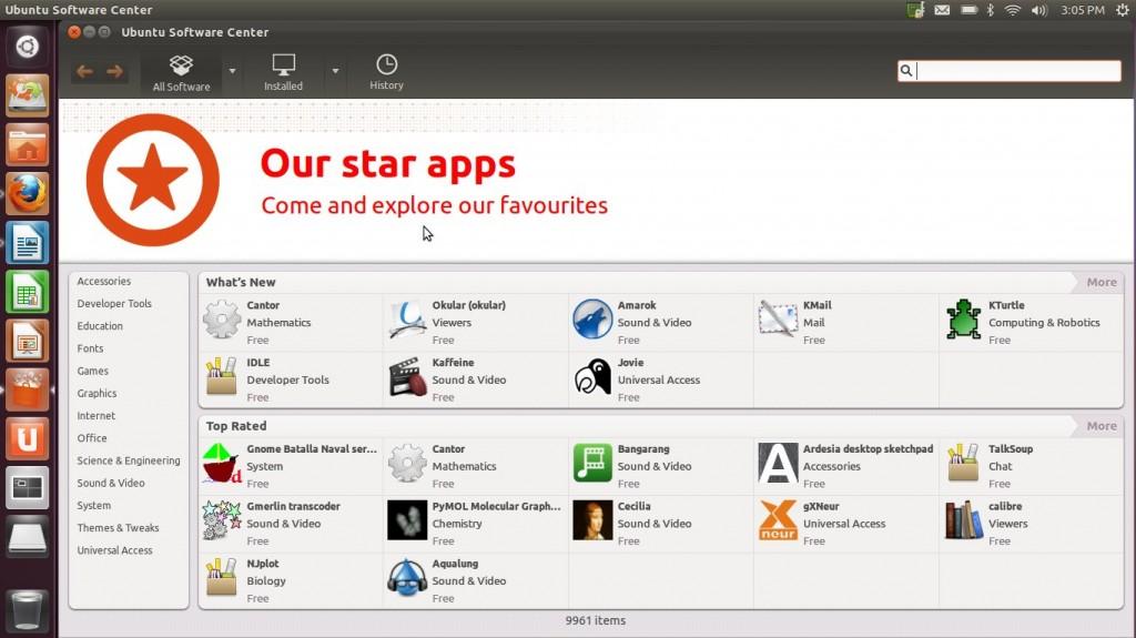 "Ubuntu 11.10 ""Oneiric Ocelot"" Ubuntu Software Center"