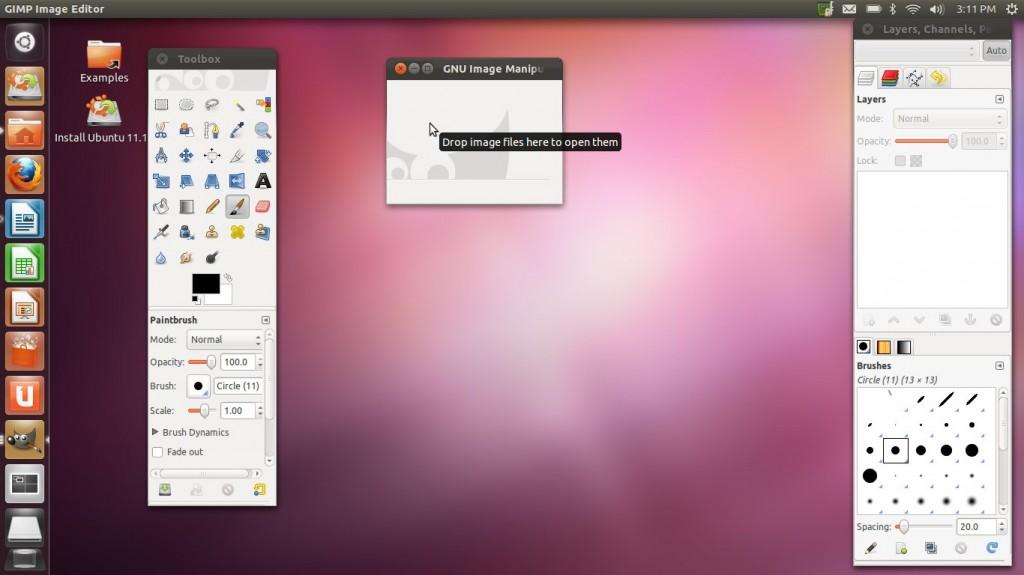 """Ubuntu 11.10 """"Oneiric Ocelot"""" Gimp"""