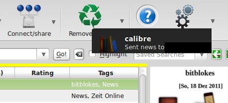 Calibre E-Mail gesendet