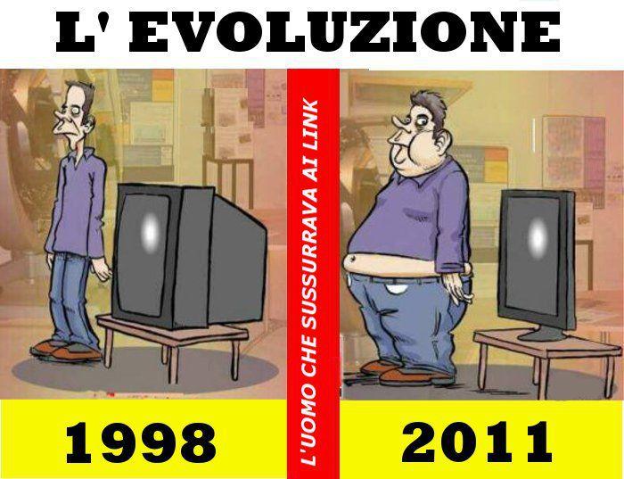 Evolution Mensch Fernseher