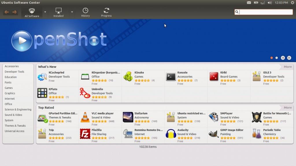 Ubuntu 12.04 LTS Precise Pangolin Software Center