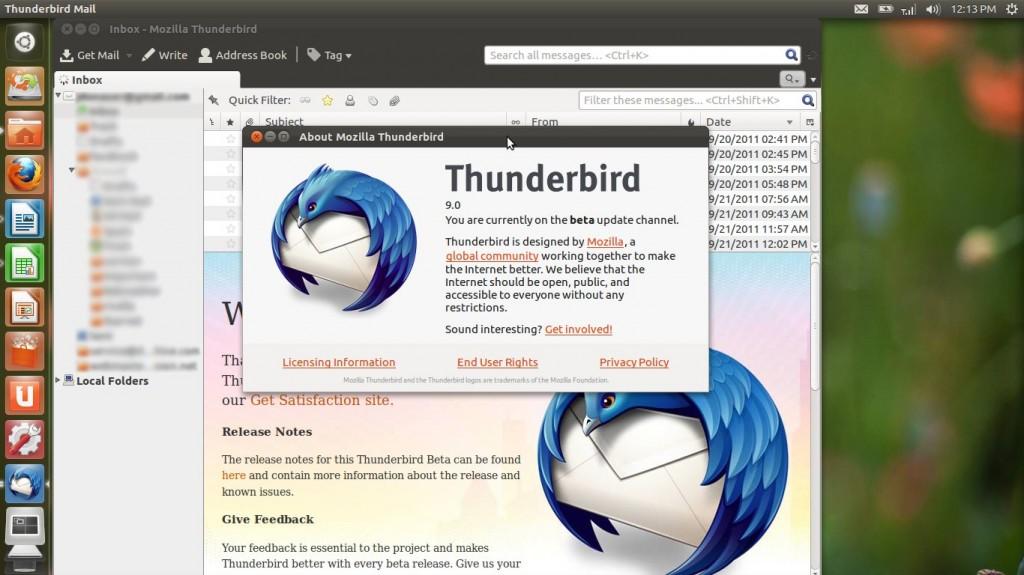 Ubuntu 12.04 LTS Precise Pangolin Thunderbird 9
