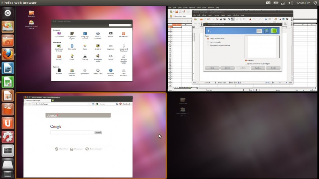 Ubuntu 12.04 LTS Precise Pangolin Dashboard