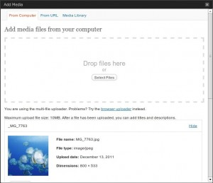 Wordpress 3.3 Media-Uploader