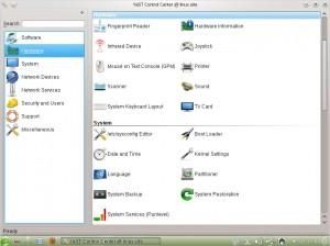 openSUSE 12.1 KDE YaST