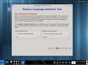 Porteus 1.2 KDE Language-Tool