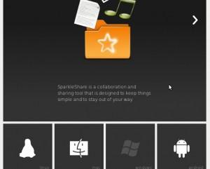 Sparkleshare Webseite