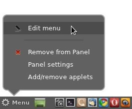 Cinnamon 1.4: Edit Menu