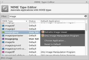 Mime Type Editor
