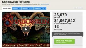Shadowrun Returns 1 Million