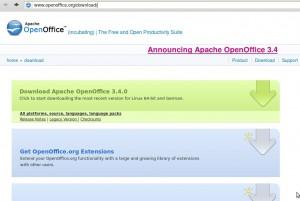 Apache OpenOffice 3.4 herunterladen