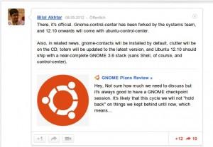 Bilal Akhtar über Ubuntu 12.10 Kontrollzentrum