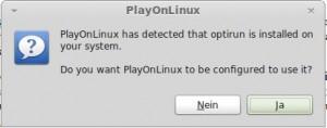 PlayOnLinux und Optirun