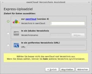 ownCloud Sync-Client weiteres Verzeichnis