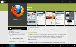 Firefox 14 für Android: Noch nicht für Tablets!