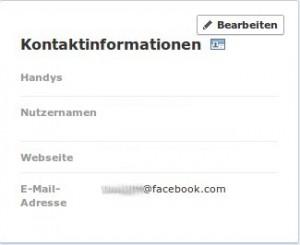 Facebook E-Mail geändert