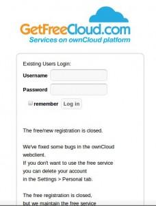 GetFreeCloud.com geschlossen