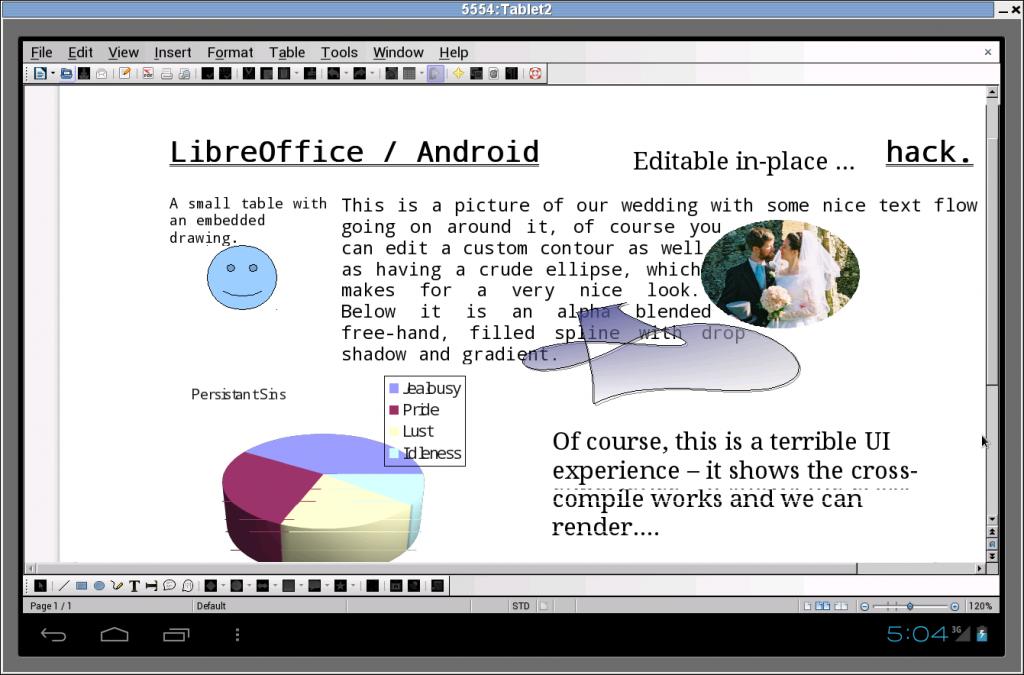 LibreOffice auf dem Tablet