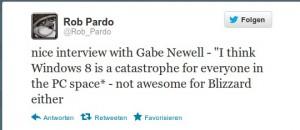 Rob Pardo auf Twitter