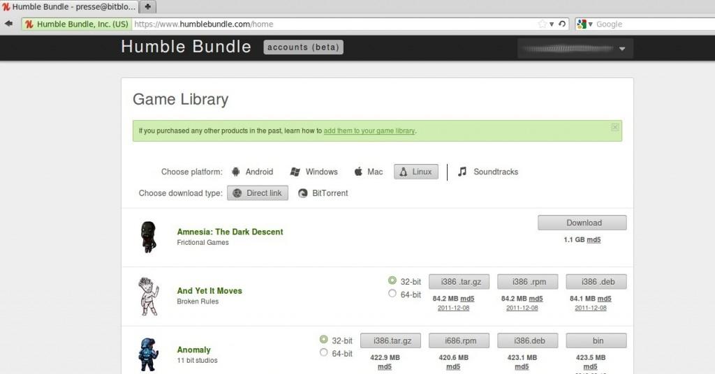 Humble Bundle Accounts