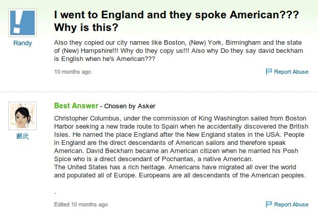 Warum sprechen Engländer Amerikanisch?