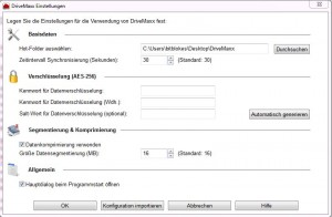 DriveMaxx Konfiguration
