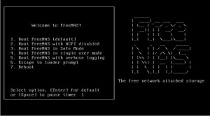 FreeNAS 8.2.0 Bootscreen