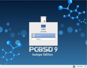 PC-BSD 9.1: Anmelden