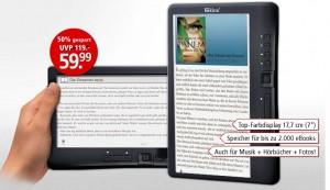 Günstiger eBook-Reader mit Farbdisplay