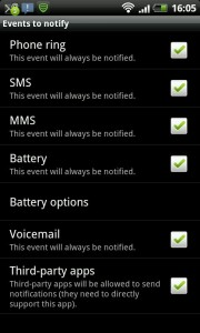 android-notifier Events
