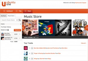 Neuer Ubuntu One Music Store (Quelle: voices.canonical.com)