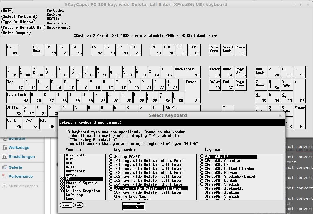 XKeyCaps: virtuelle Tastatur