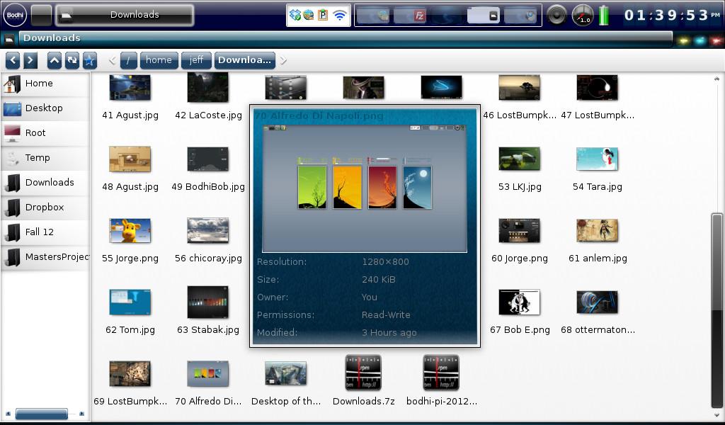 Bodhi Linux 2.1.0: Dateimanager Enlightenment EFM