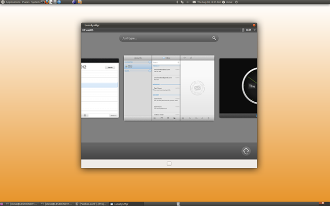 Open webOS Desktop Beta (Quelle: openwebosproject.org)