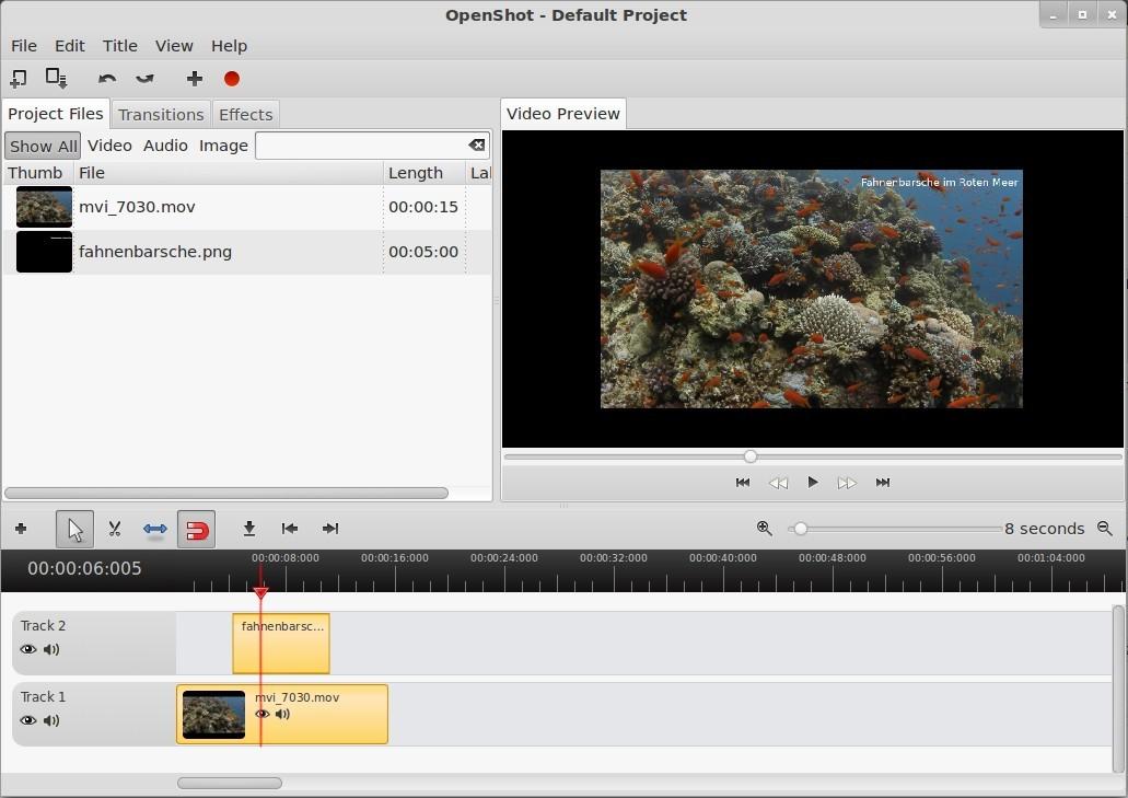 OpenShot: Video mit transparentem Bild