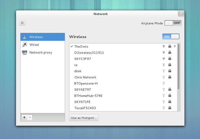 GNOME 3.6: Netzwerkeinstellungen (Quelle: gnome.org)
