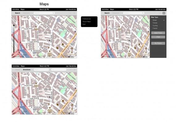 Maps in GNOME 3.8 (Quelle: gnome.org)