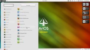 AriOS 4 GNOME: Menü
